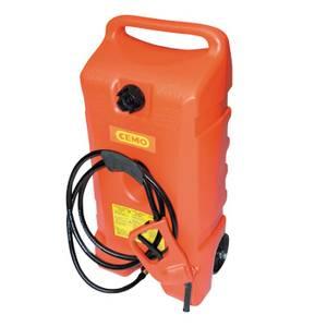 Bilde av Plast 53 liters manuell pumpe rullende jerrykanne